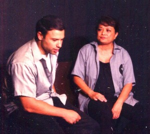 Ari Huber and Janet Redmond in Hamlet Awaits the Night Shift